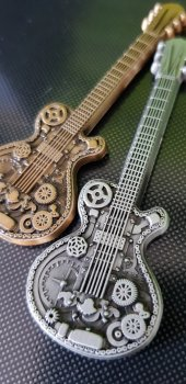 Steampunk Guitar Geocoin