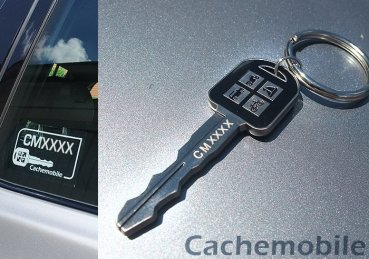 Cachemobile-Set: Coin + 2 Aufkleber