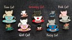 Cup Cats Geocoin + Pin